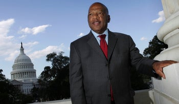 File photo: U.S. Rep. John Lewis, D-Ga., is seen on Capitol Hill in Washington, October 10, 2007.