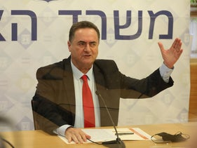 Finance Minister Yisrael Katz at the Finance Minister, Jerusalem, July 1, 2020