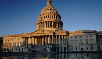 The U.S. Capitol is seen at sunrise in Washington, January 21, 2020.