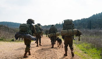 Paratroopers Brigade soldiers carry out an exercise in Israel's north, January 28, 2020.