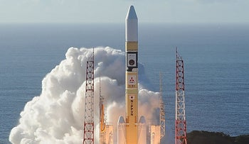 The UAE's Hope Probe, which will explore Mars, blasts off from Tanegashima Space Center in southwestern Japan, July 20, 2020.