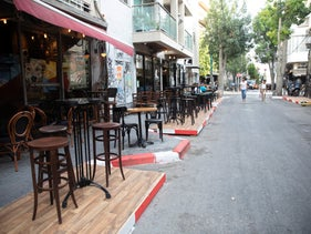 A near empty street in Florentine, Tel Aviv during the coronavirus crisis, July 26, 2020