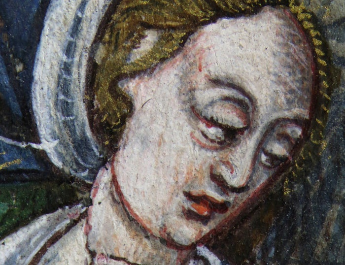 Close-up of the woman whose picture was transformed into Jane Seymour.