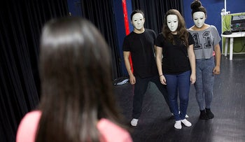 A theater program in Jaffa for at-risk youth.