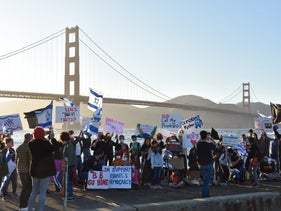 Anti-government protest by ex-pat Israelis in San Francisco, July 31, 2020.
