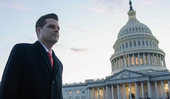 "Rep. Matt Gaetz in HBO documentary ""The Swamp."" You can smell the need for affirmation when he's on the phone with POTUS."