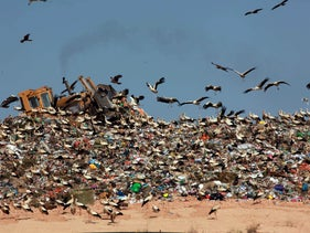 The Dudaim landfill site in southern Israel, April 11, 2016.