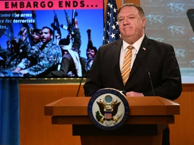 U.S. Secretary of State Mike Pompeo gives a news conference, June 24, 2020.