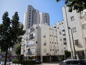 Apartment buildings in the residential neighborhood of Nahalat Yitzhak, Tel Aviv, February 13, 2020.