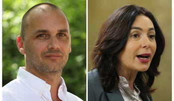 Amir Asraf, left, and Miri Regev.