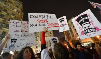File photo: Egyptian women protest sexual harrassment, Cairo, February 2013.