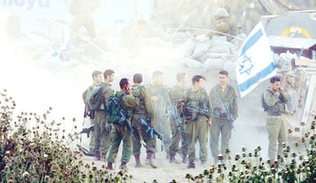 Israeli soldiers in Jenin during Operation Defensive Shield, April 2002.