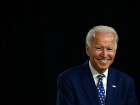 Democratic Party candidate Joe Biden, at a campaign event in Wilmington, Delaware, on July 28, 2020