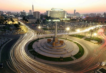 A general view shows Tahrir Square, after its renovation, in Cairo, Egypt July 13, 2020.