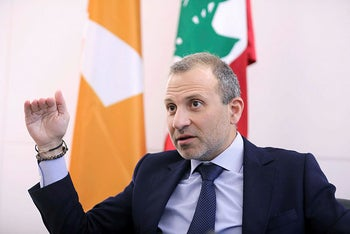 Gebran Bassil, a Lebanese politician and head of the Free Patriotic movement in Sin-el-fil, Lebanon July 7, 2020.