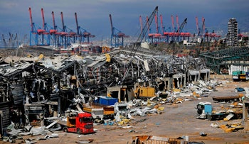 Beirut's port on August 10, 2020.