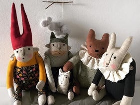 "Toys from the Red Elk label owned by Lena Baklanova, 42, an ""indie designer and illustrator"" and Tal Chet, a Bezalel graduate."