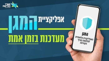 A Hebrew-language ad campaign for the 'HaMagen' App.