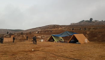 Israeli Border Police arrive to demolish illegal outpost in northern West Bank, August 12, 2020