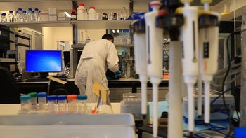 A researcher at work at a Tel Aviv University lab.