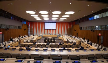 The UN Security Security Council meets on the situation in the Middle East, on Tuesday, July 14, 2020.