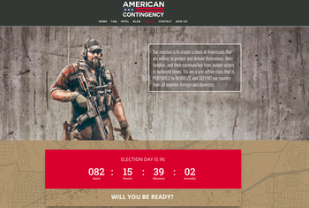 Screenshot of the American Contingency website set up by Mike Glover