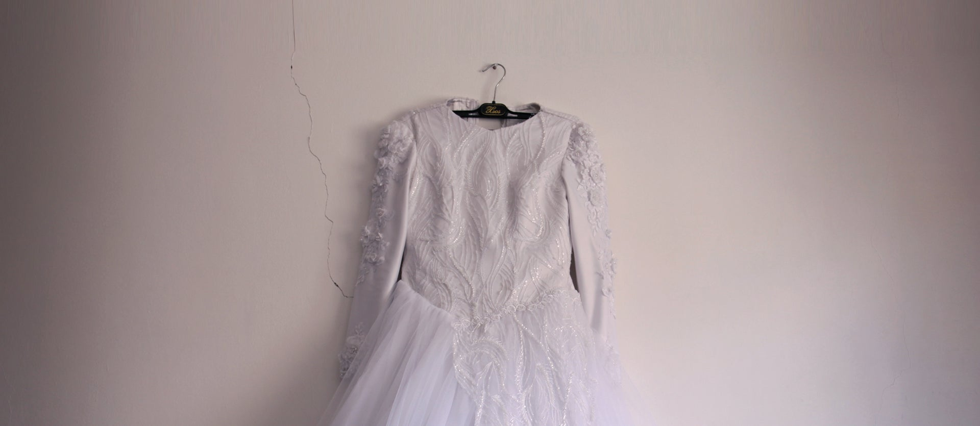 The top part of a wedding dress