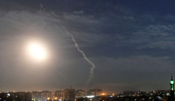 Photo released by the Syrian official news agency SANA shows missiles in Damascus, Jan. 21, 2019.