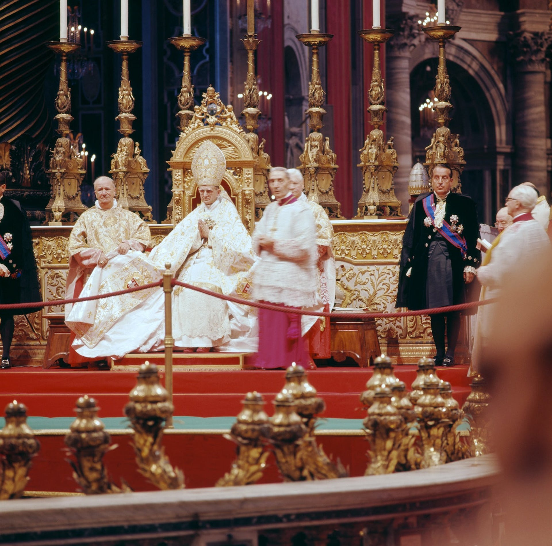 Pope Paul VI during the Second Vatican Council.