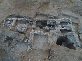The Israel Antiquities Authority's excavation at Rahat, southern Israel.