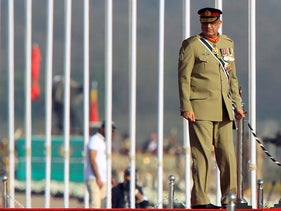 Pakistan's Army Chief of Staff Lieutenant General Qamar Javed Bajwa arrives to attend the Pakistan Day military parade in Islamabad, Pakistan, March 23, 2017.
