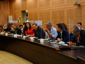 The discussion at the Knesset's Finance Committee in Jerusalem, on August 17, 2020.