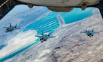 Israeli and U.S. F-35 drill together over the Dead Sea, August 2020