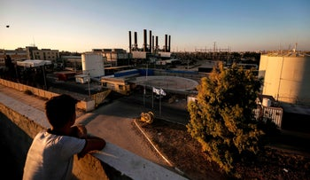 The only electricity plant in Gaza, which shut down on Aug. 18, 2020.