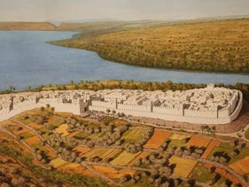 A rendition of ancient Bethsaida as it would have looked around the 8th century B.C.E.