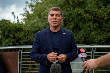 Foreign Minister Gabi Ashkenazi in northern Israel, August 2020.
