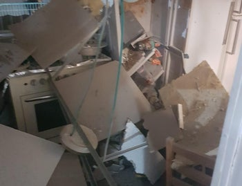 The damaged house in Sderot, August 20, 2020.