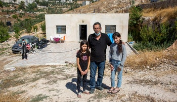 The Abda family in front of their home in the Jabal Mukkaber neighborhood of East Jerusalem, August 20, 2020