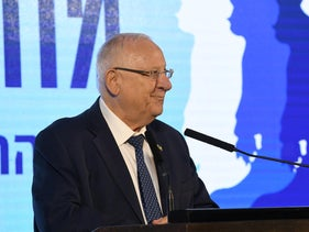 Reuven Rivlin at a conference in October, 2019.