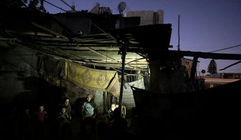 No electricity at a home in northern Gaza.