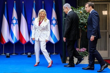 Israel's first lady Sara Netanyahu, January 22, 2020.