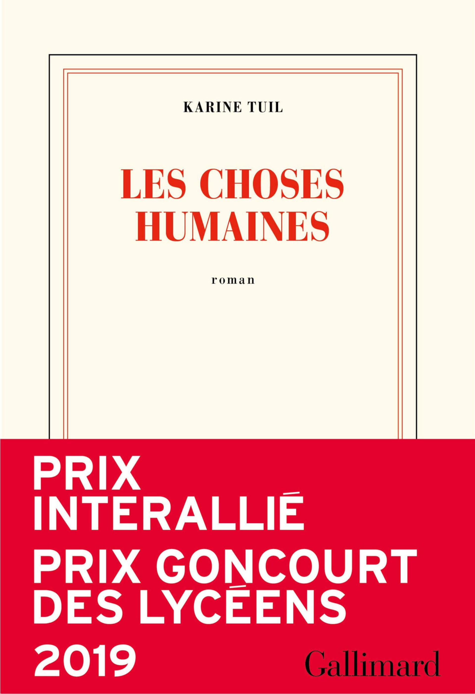 The cover of the French edition of 'Human Things.'