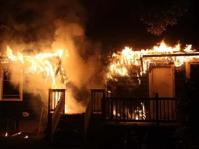 The Chabad house at University of Deleware burns, August 25, 2020.