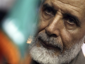 Mahmoud Ezzat, deputy leader of the Muslim Brotherhood, attends a news conference in Cairo May 30, 2010.