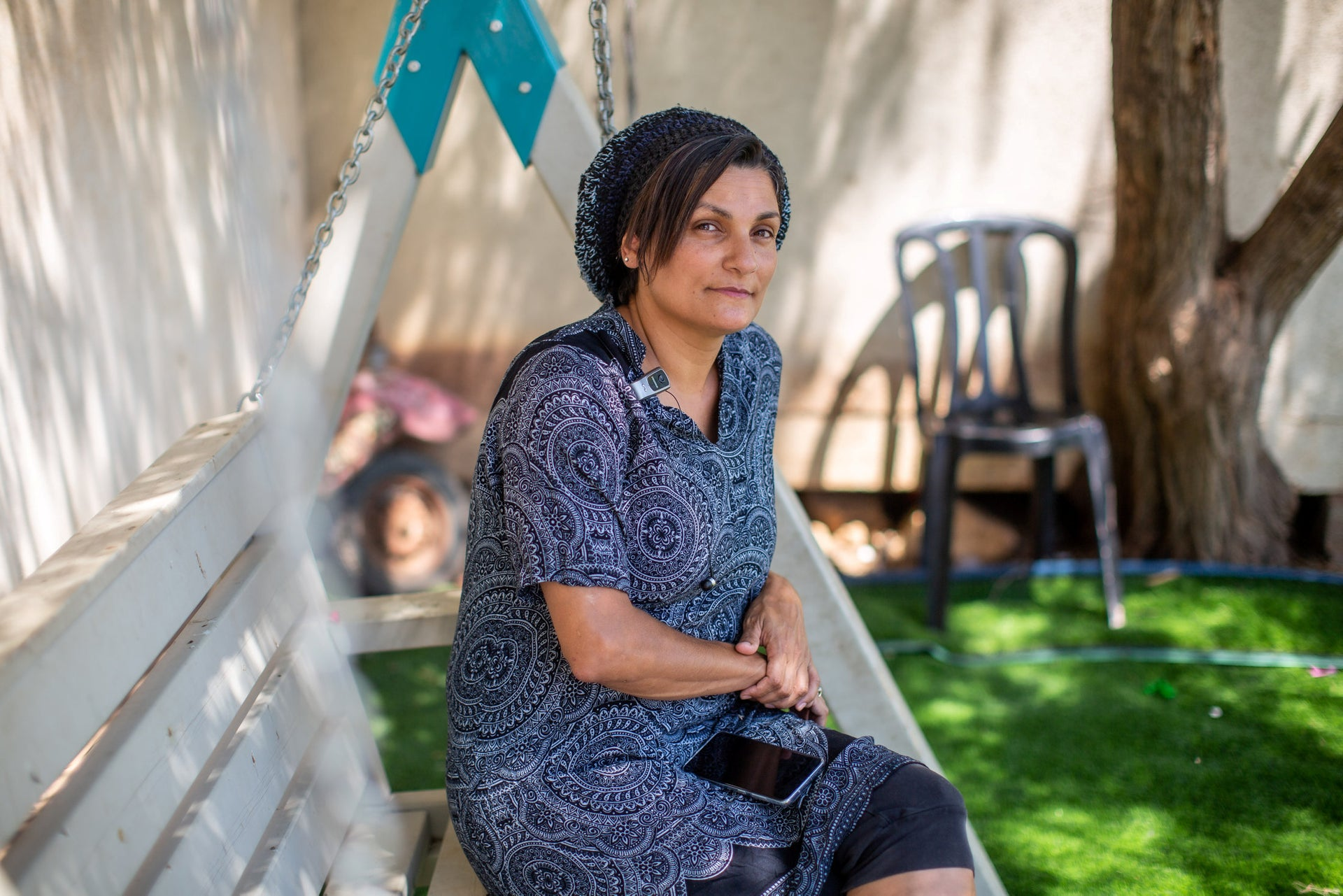 Ravit Marmelstein, the principal in the settlement of Psagot for a school students who have dropped out of school