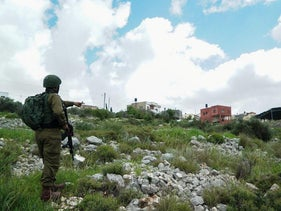 IDF forces near the Israeli settlement of Ariel, West Bank, in 2019.