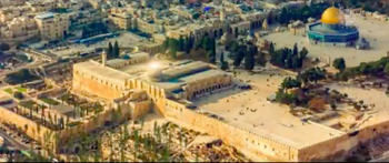 Closing shot of the propaganda movie released by the Turkish presidency showing the Al-Aqsa compound in Jerusalem