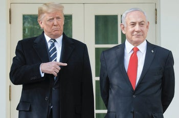 President Trump and Prime Minister Netanyahu at the White House in Washington, January 27, 2020.