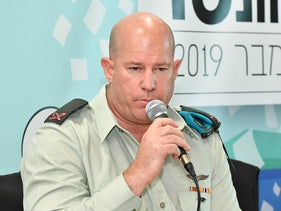 Zilberman speaks at a media convention in the southern city of Eilat, November 11, 2019.