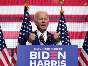 Democratic presidential candidate former Vice President Joe Biden speaks at campaign event at Mill 19 in Pittsburgh, Pa., Monday, Aug. 31, 2020